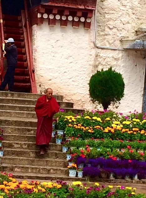 Lhasa Tibet Potala Palace monk