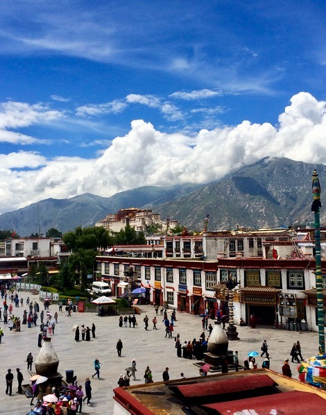 Lhasa Tibet Jokhang temple prayers