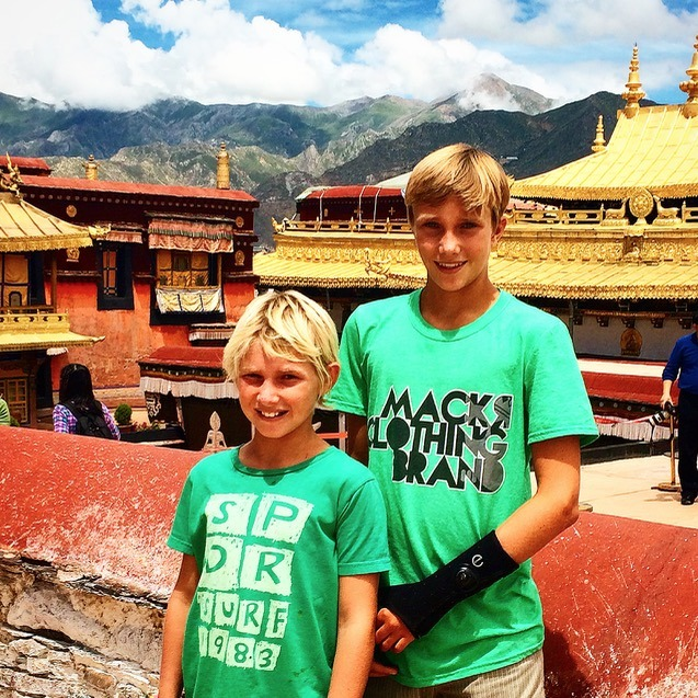 Lhasa Tibet Drepung Monastery with kids today