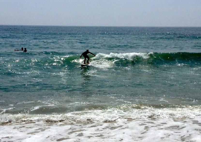 Surfing in Hermosa Beach