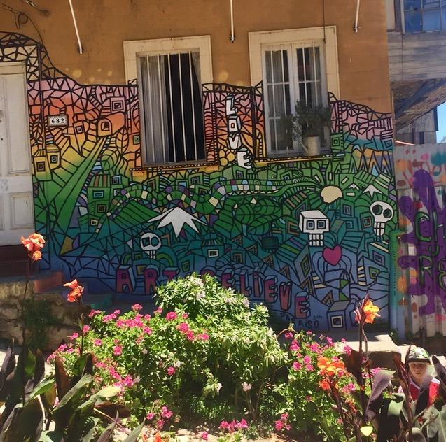 Valparaiso Chile street art adventure with kids