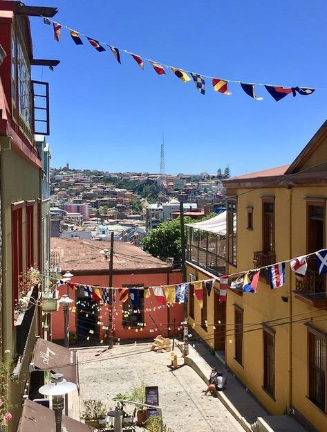 visit Valparaiso Chile street art with children