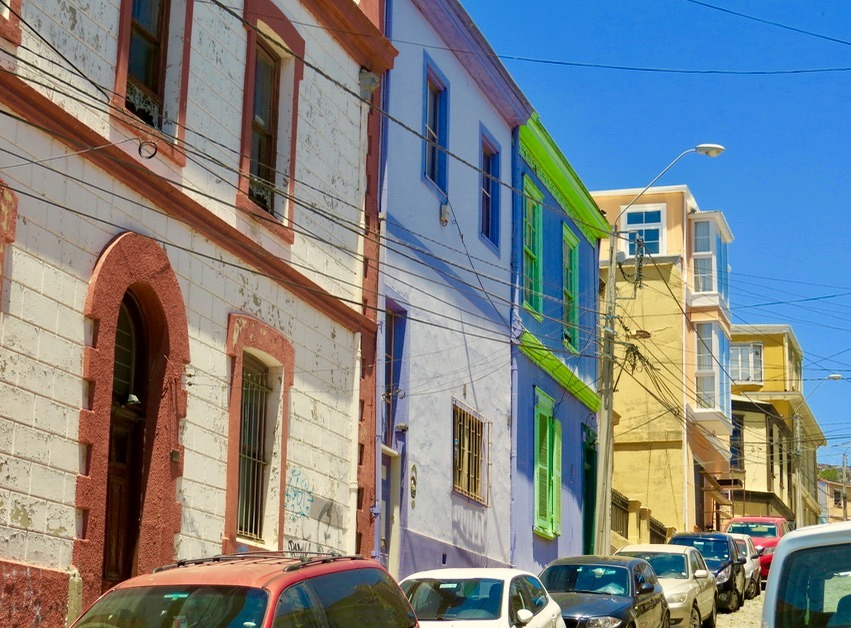 Valparaiso Chile street art colors