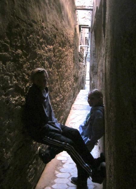 Fez Morocco narrow medina
