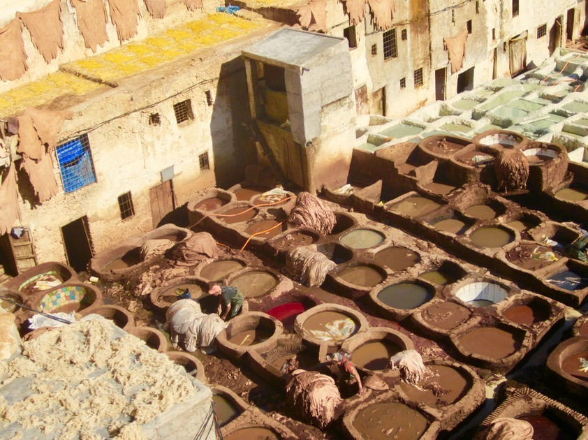Fez Morocco tannery