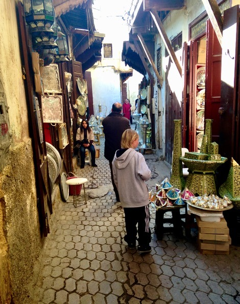 Fez Morocco haggle with kids