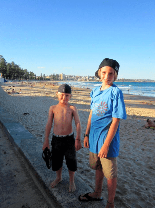 Sydney, Australia Manly Beach with kids