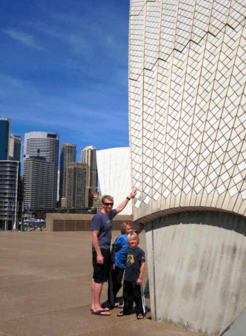 Sydney Australia Opera House with kids