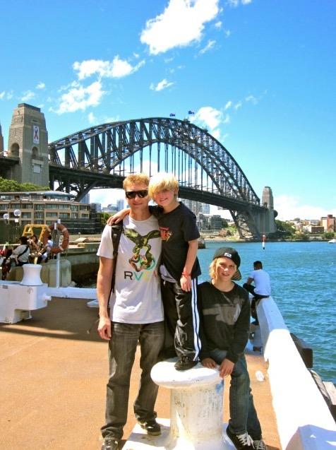 Sydney Harbor Bridge, Australia with kids