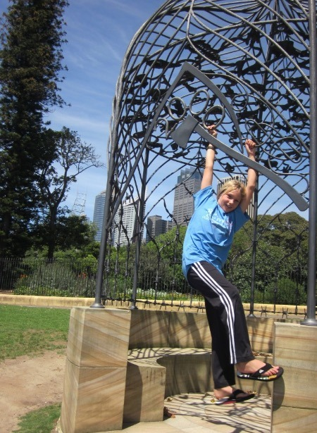 Sydney Australia botanical gardens with kids
