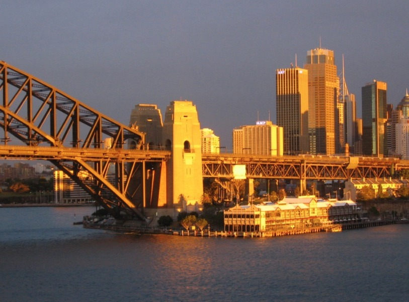 Sydney Harbor Bridge, Australia sunset
