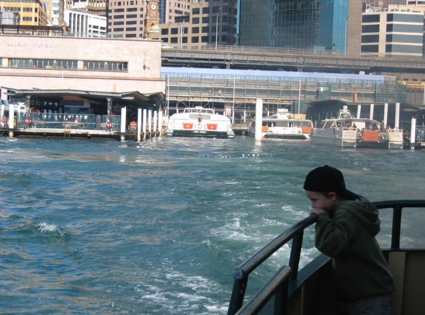 Sydney, Australia ferry rides with kids