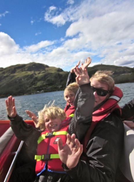 Jetboating in Queenstown with Kids for fun