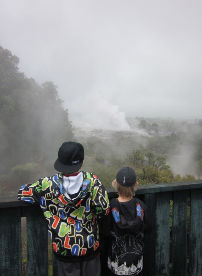 Whakarewarewa Thermal Village with kids