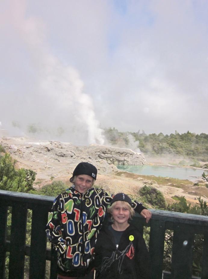 Whakarewarewa Thermal Village erupting geyser