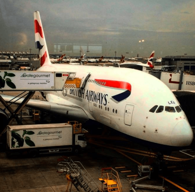 flying from from Africa on British Airways