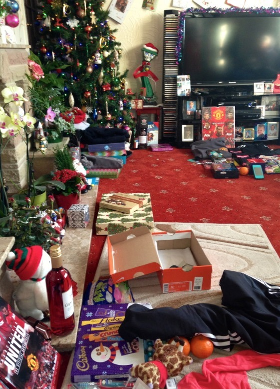 Christmas morning in ENgland