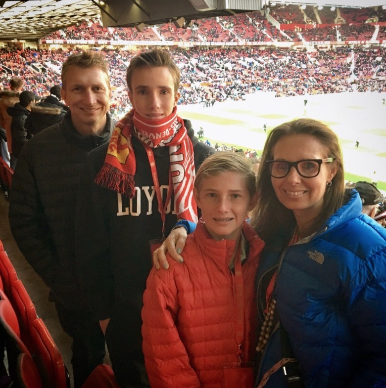 family football game - manchester united