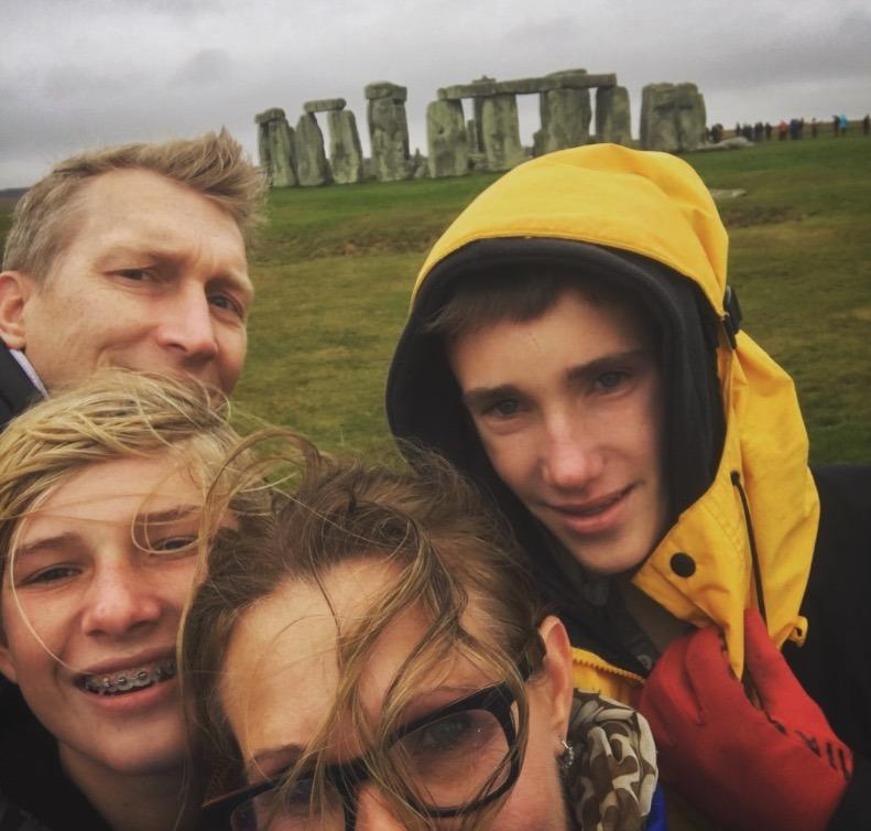 family at stonehendge