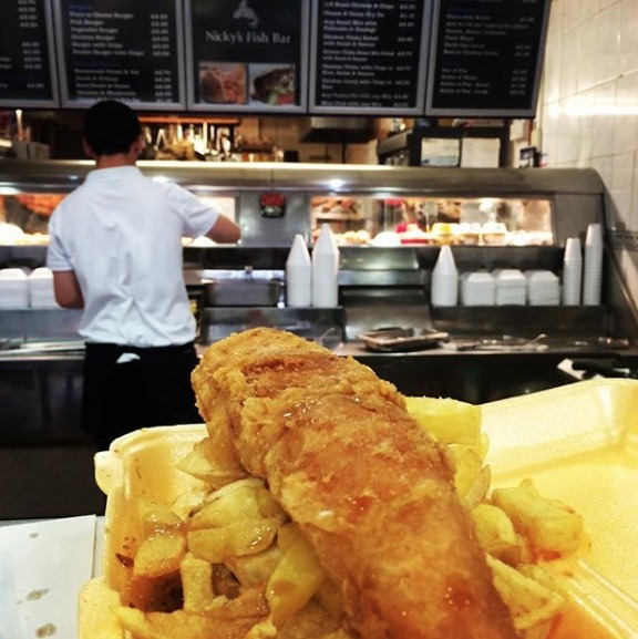 fish and chip shop in england