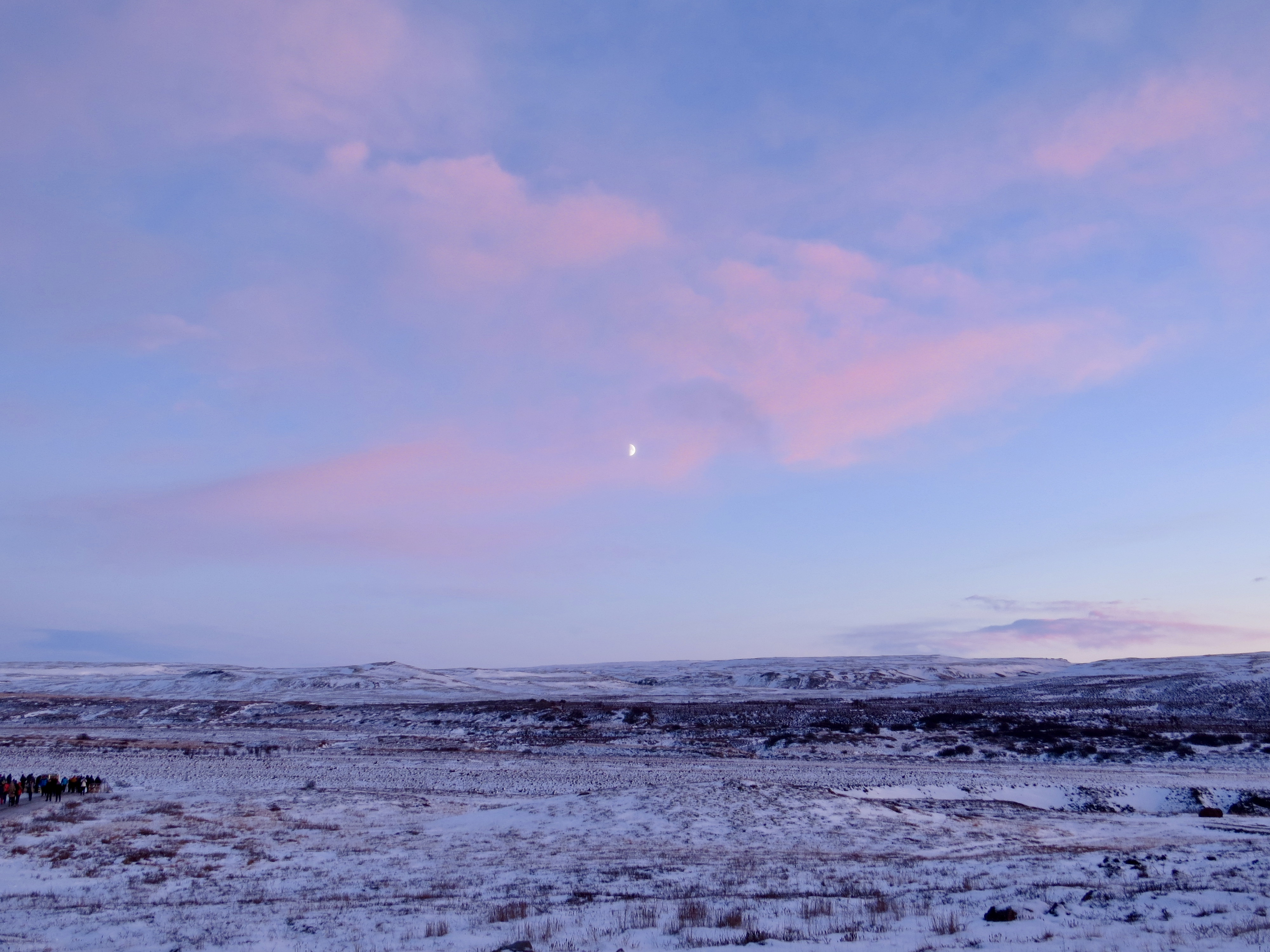 iceland sunset pink