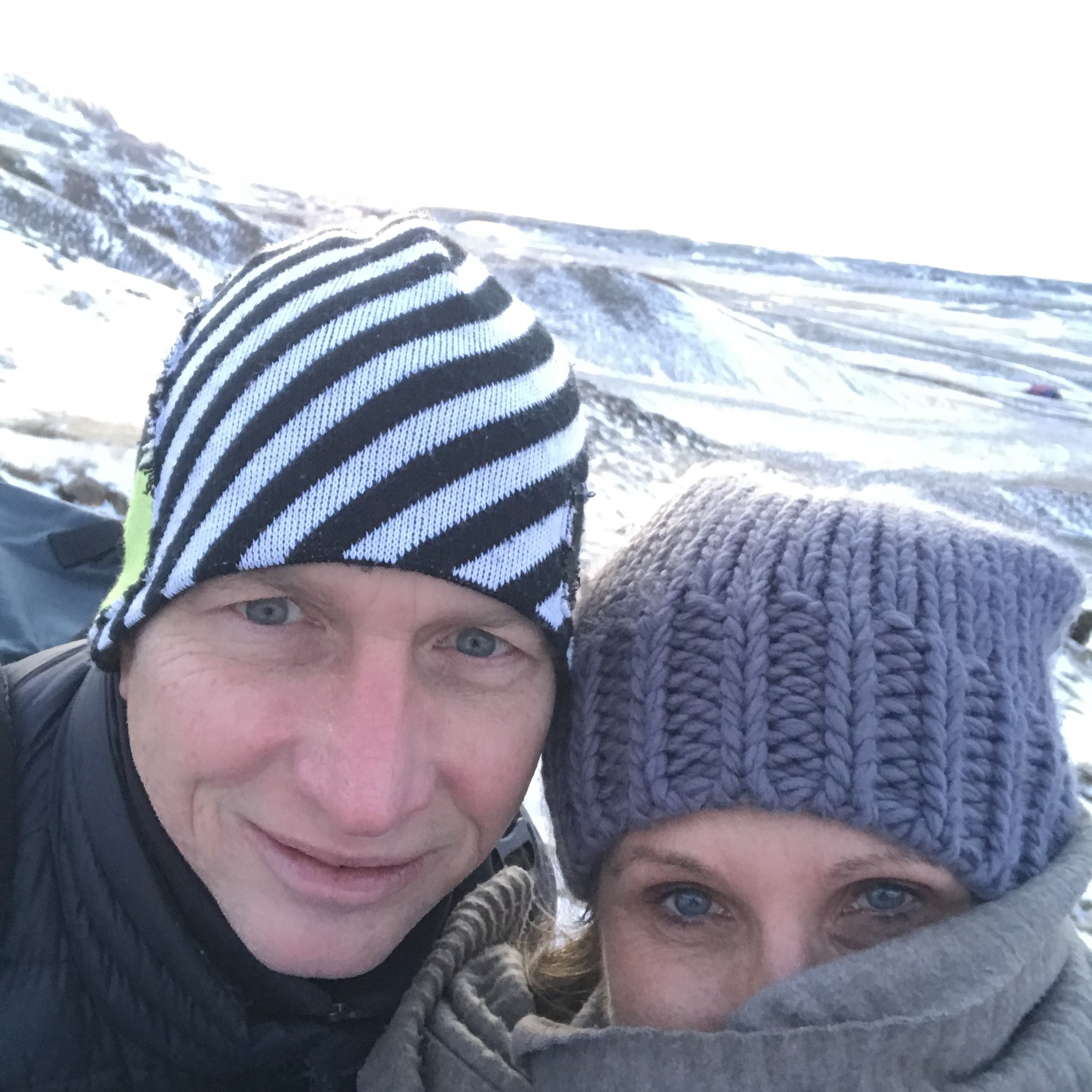 Me and Hot Hubby in the chill. iceland