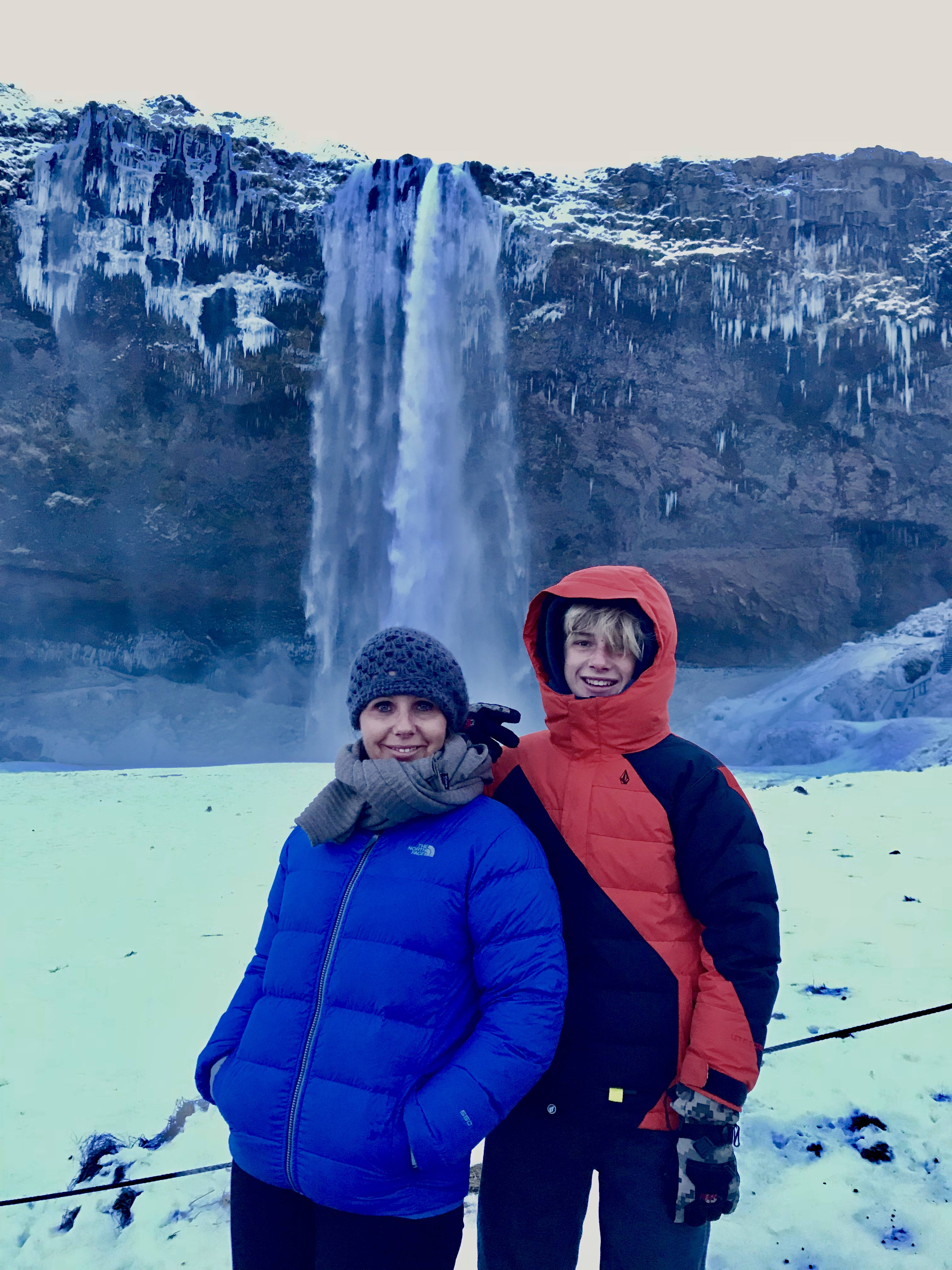 iceland waterfalls with kids