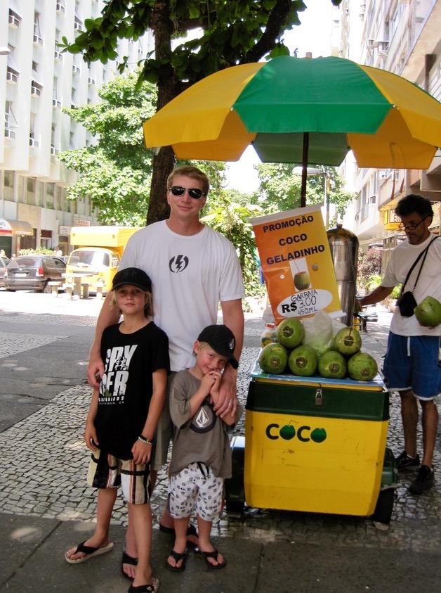 rio brazil beaches coconut water