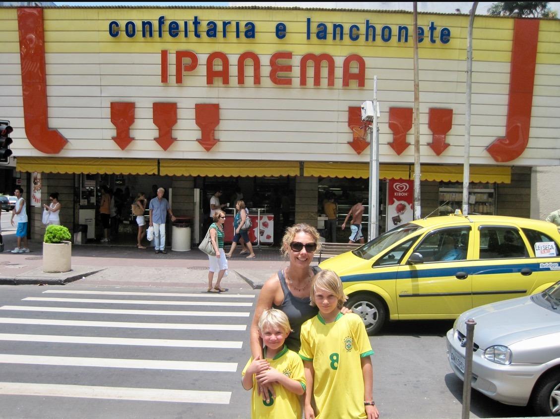 rio brazil christ the redeemer ipanema beach