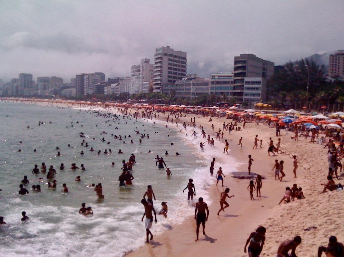 rio brazil christ the redeemer copacabana beach