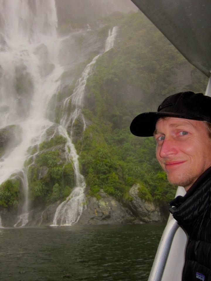 MIlford Sound New Zealand waterfall