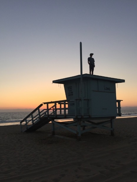 lifeguard tower sunset beach hermosa beach