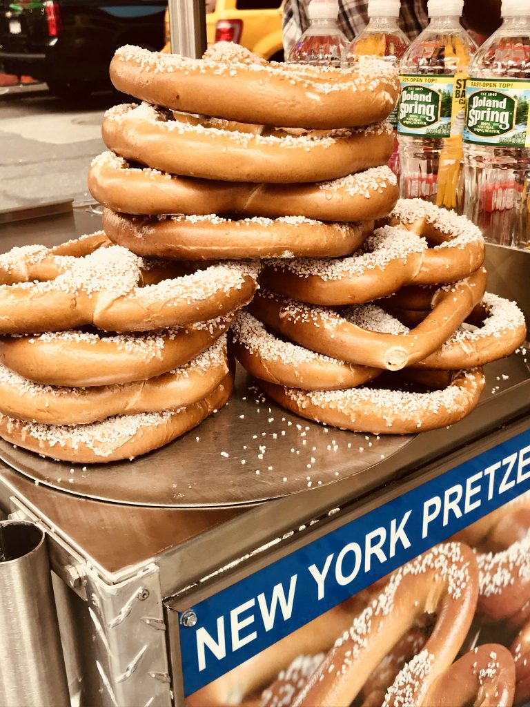 pretzel, times square, new york