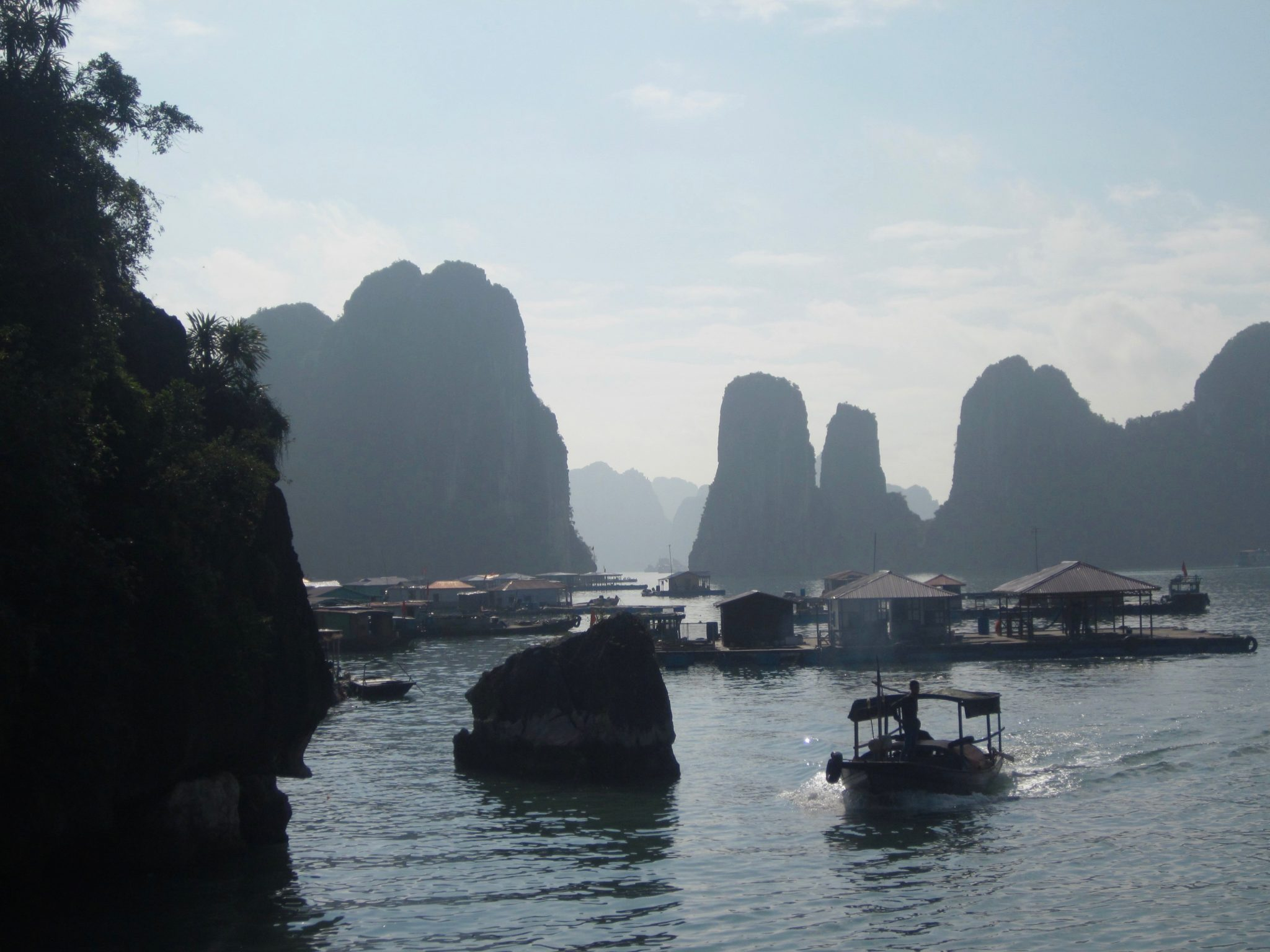 swimming in Halong Bay Vietman