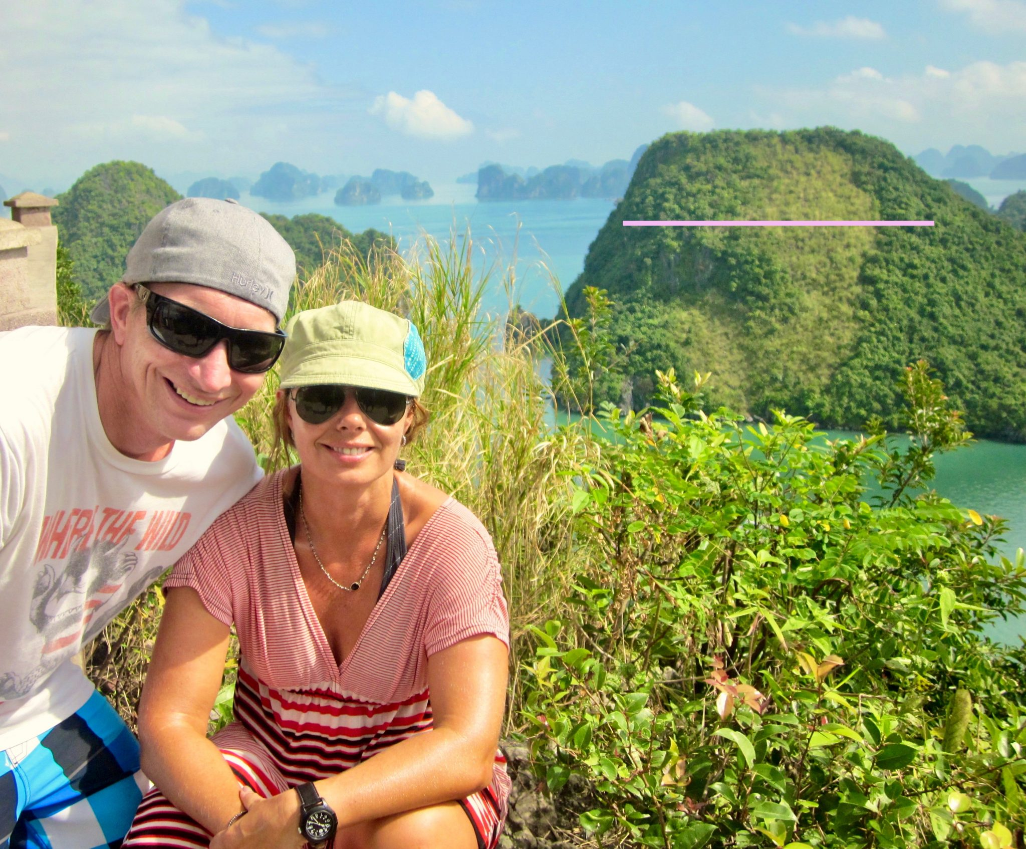 Halong Bay - The hike to the top of an island was stunning