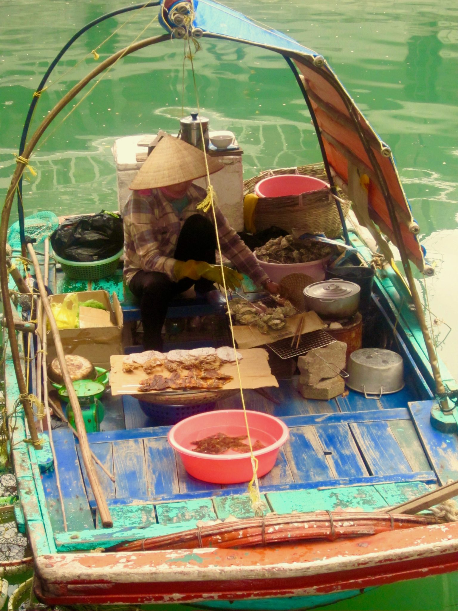 floating fish markets in Halong Bay Vietnam
