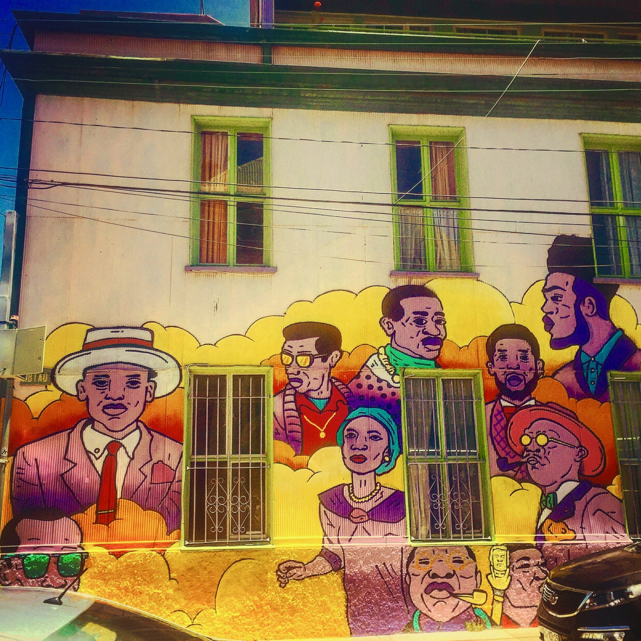 Valparaíso, Chile fun street art with the family