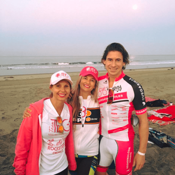 breast cancer survivor completes Malibu Triathlon with Dr. Kristi Funk and Andy Funk