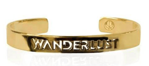 wanderlust bracelet gold bangle