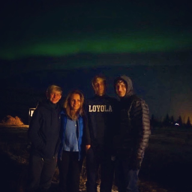Northern Lights in Iceland with the family
