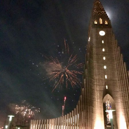 fireworks in iceland and reykjavik on new years eve