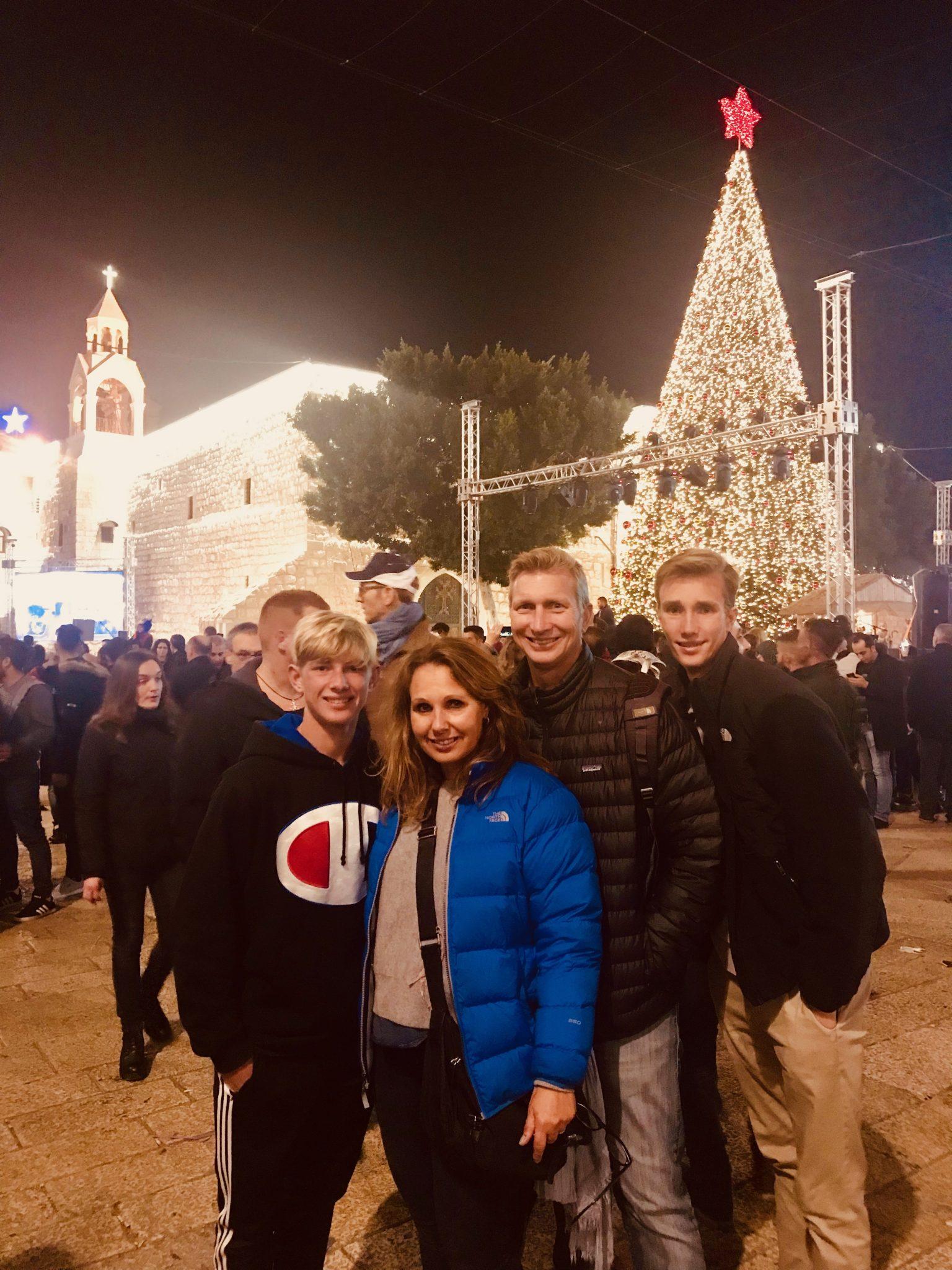 christmas eve bethlehem with family