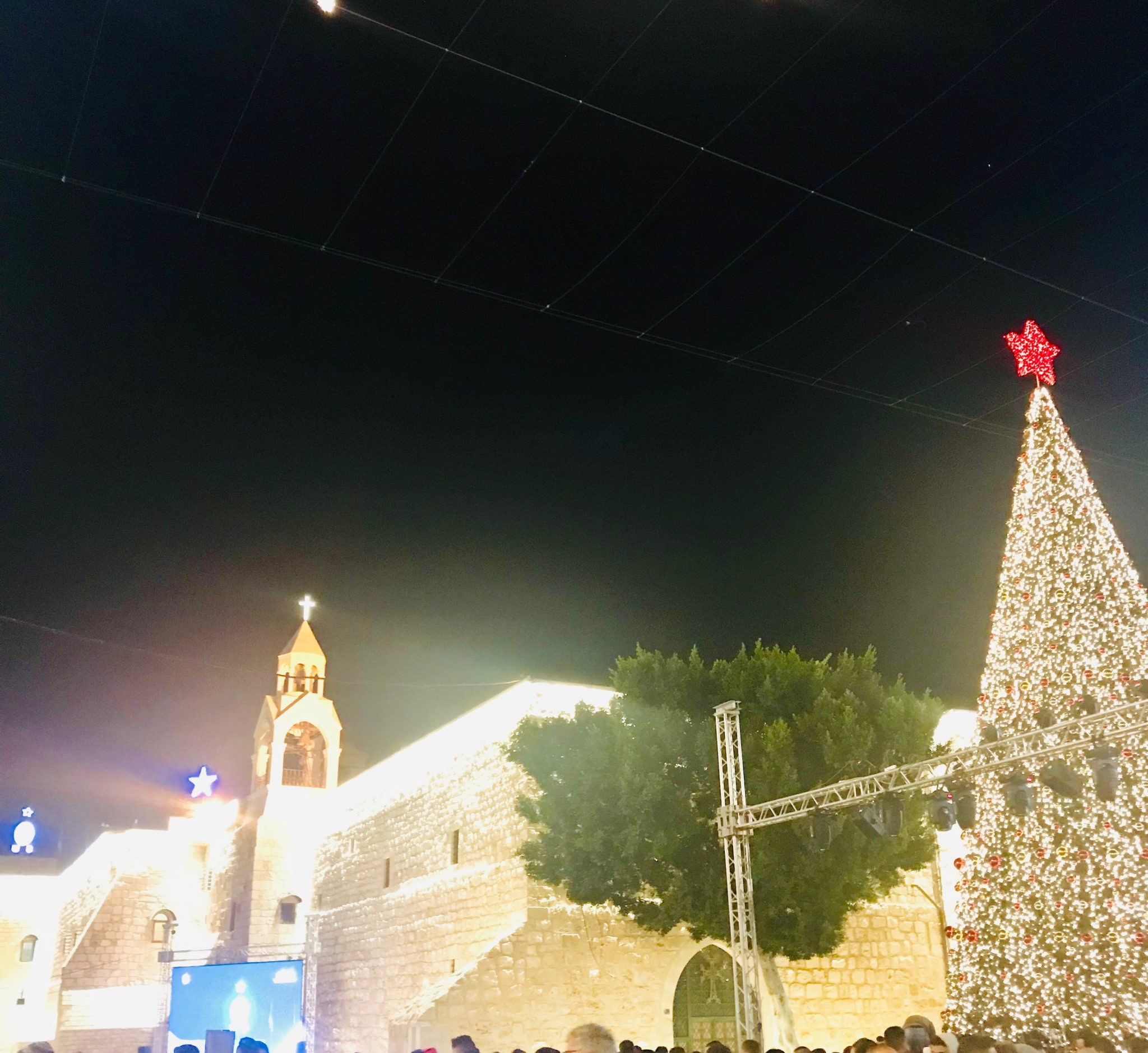 manger square in bethlehem on christmas eve