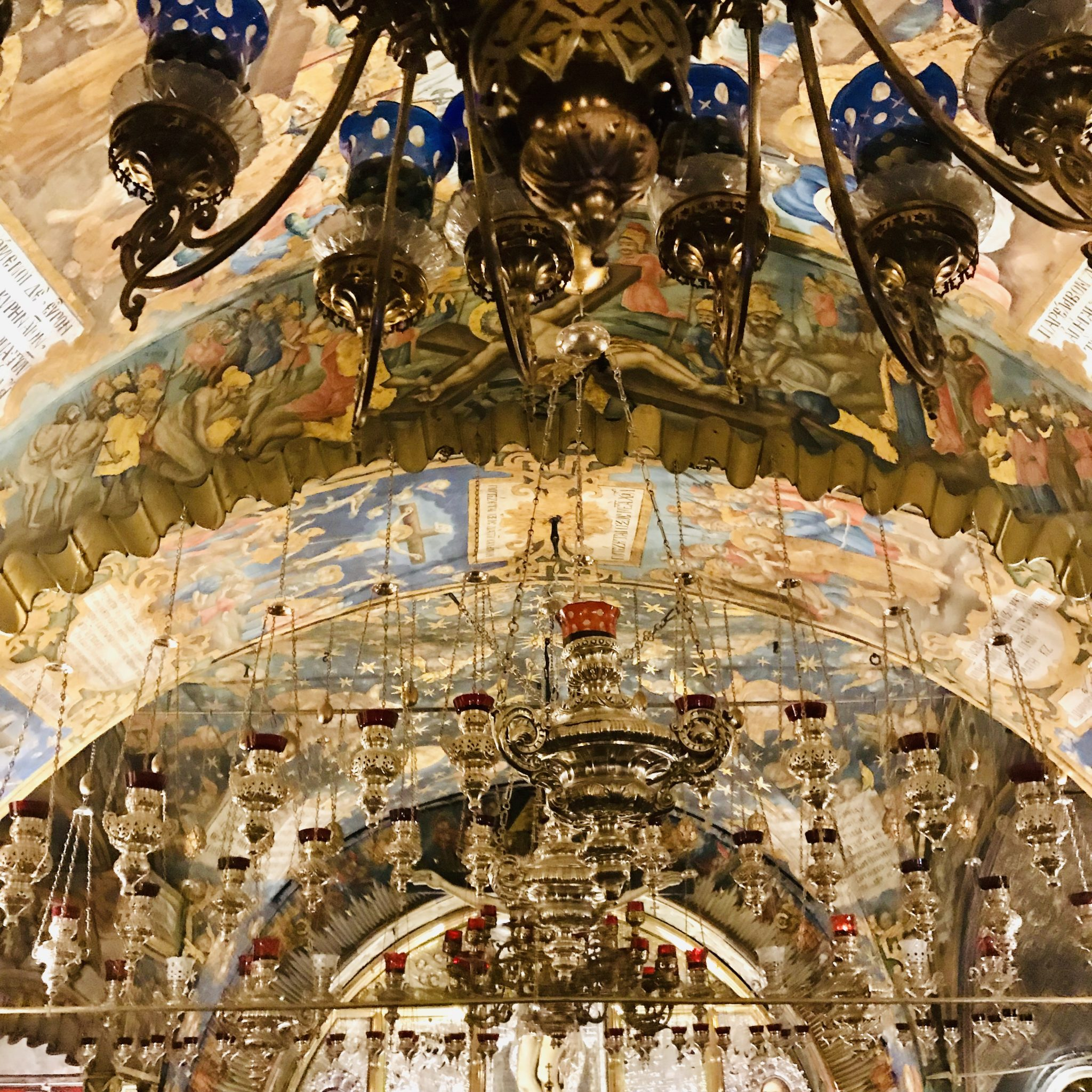 the calvary at the church of the holy sepulchere