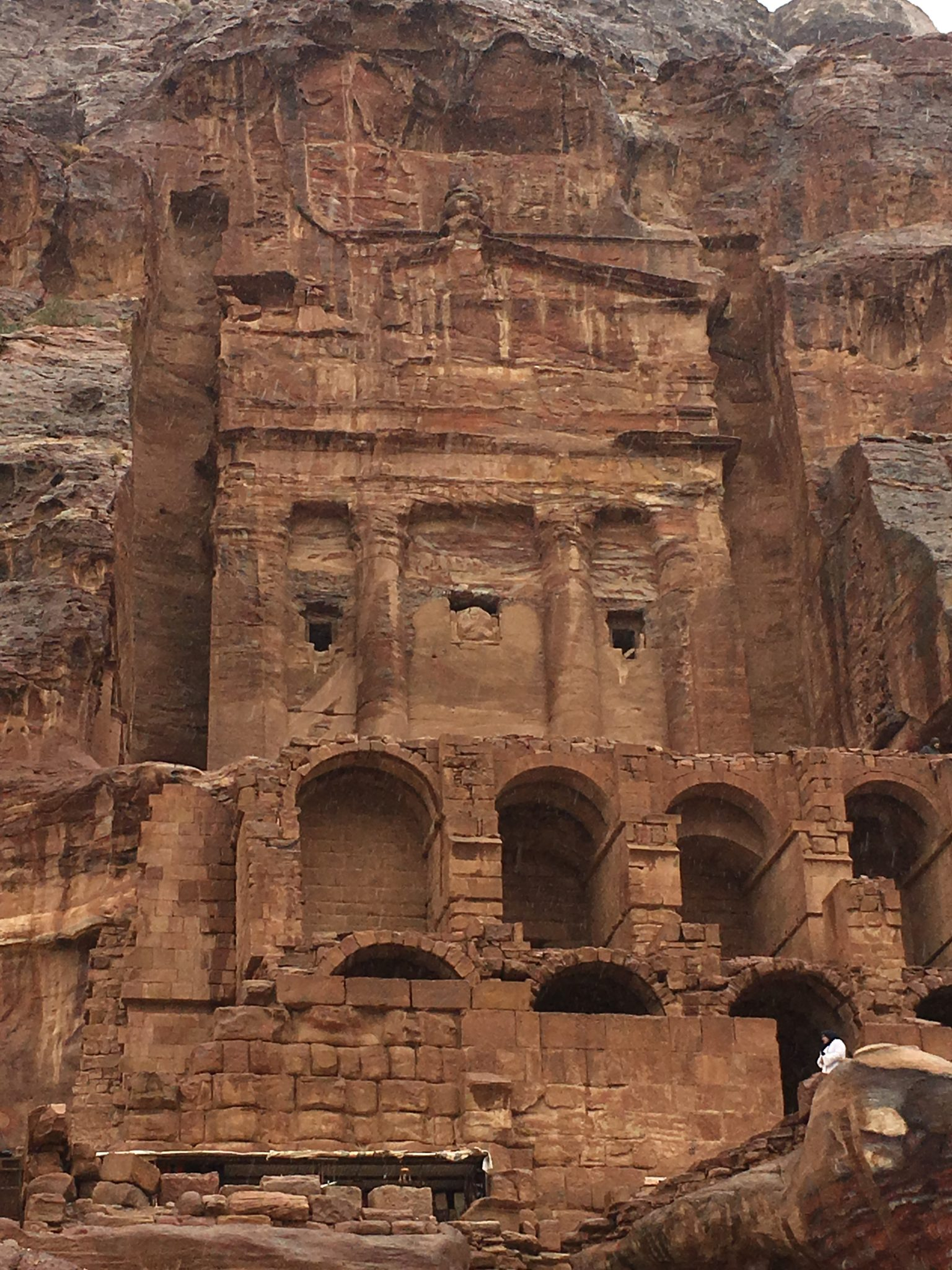 wantering around petra with family