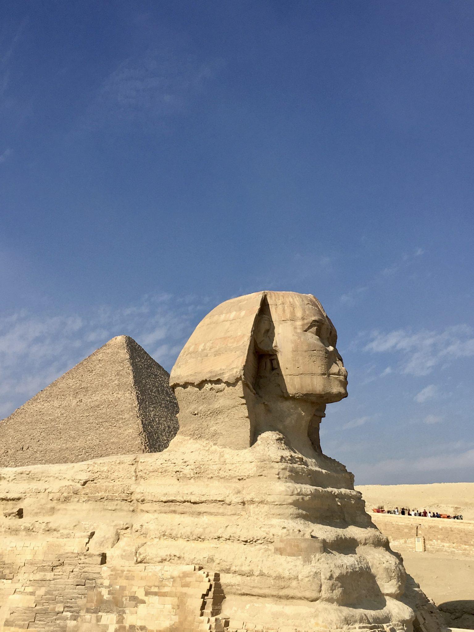sphinx in cairo, pyramids of giza