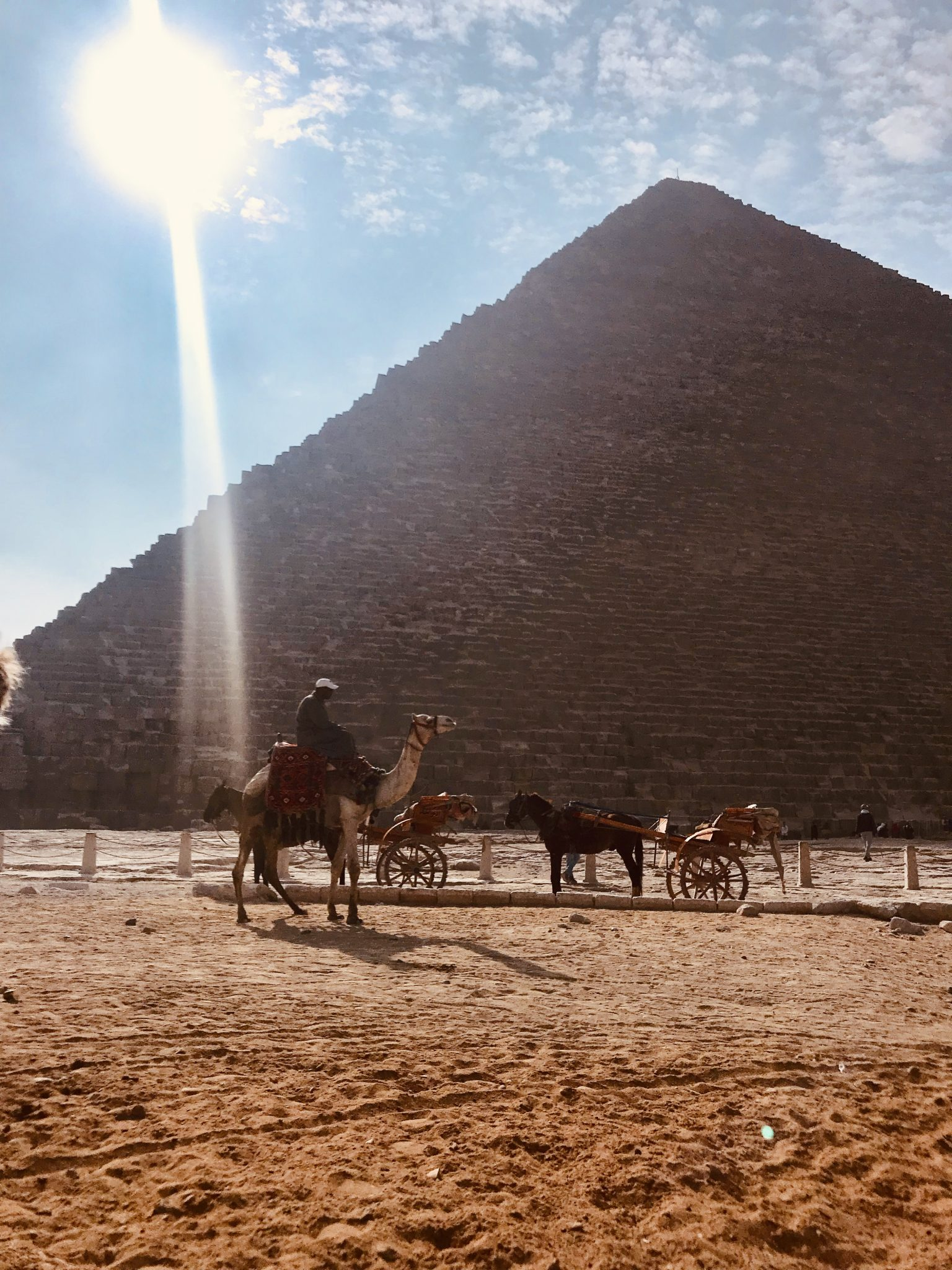 pyramids of giza in cairo egypt