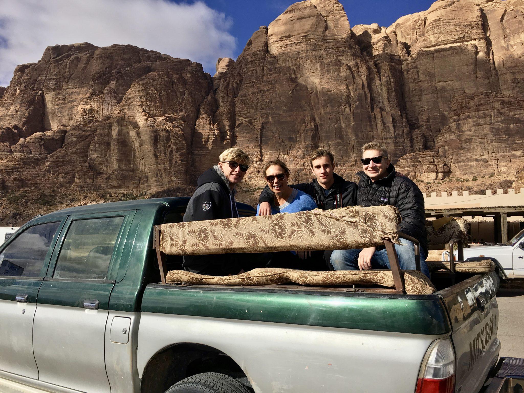 4 x 4 in wadi rum desert