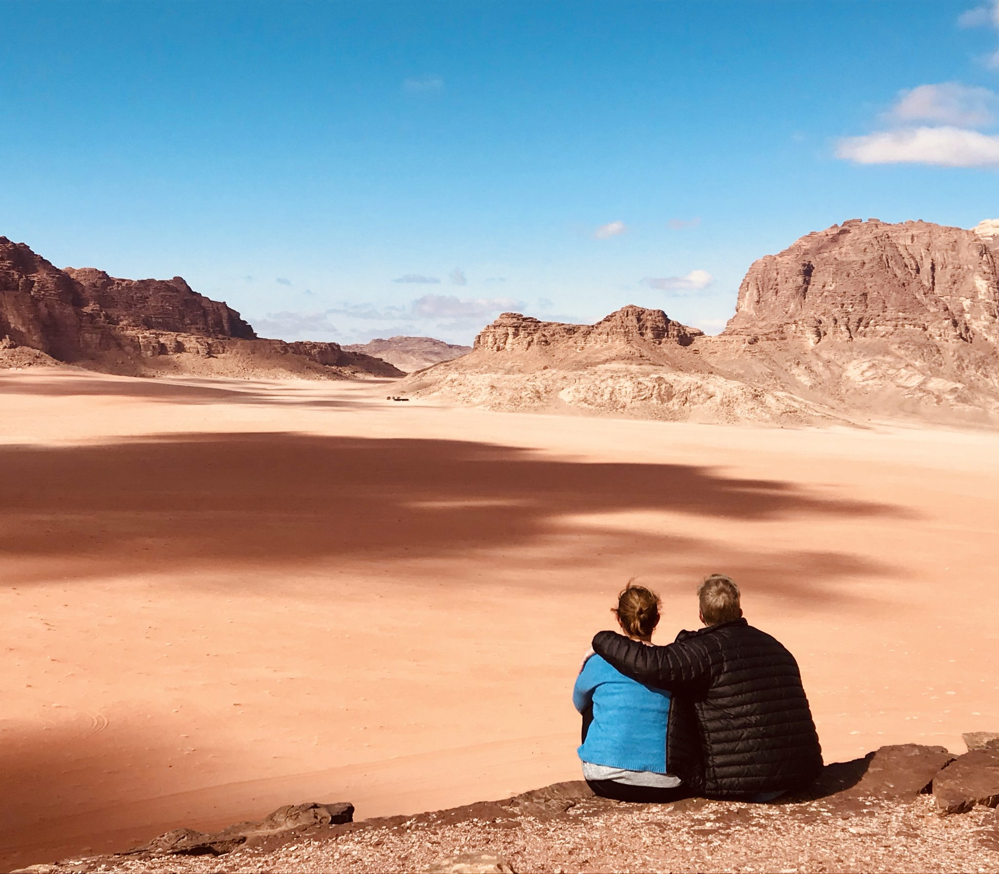 wadi rum desert jordan with the family