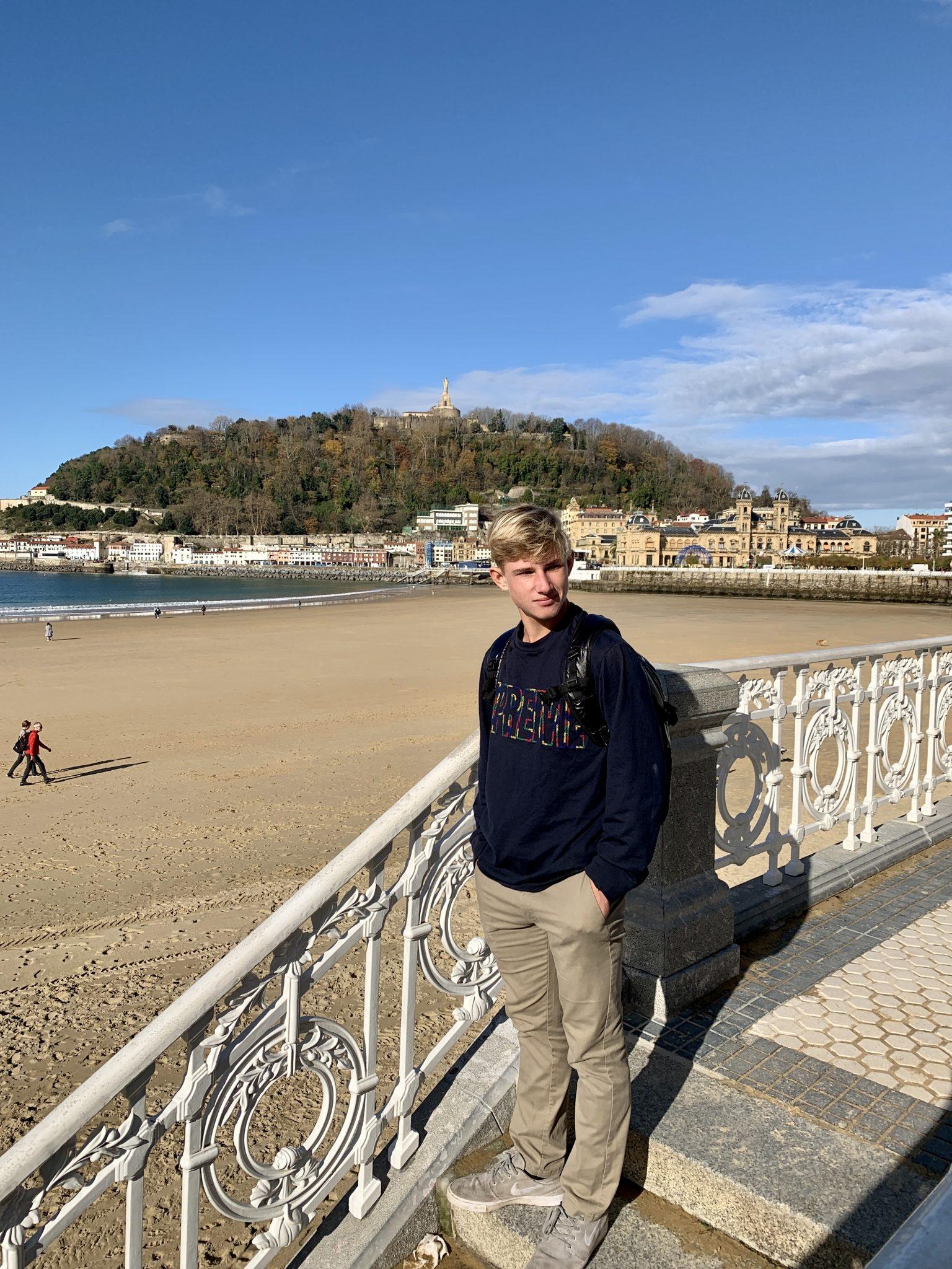 the beach in san sebastian spain